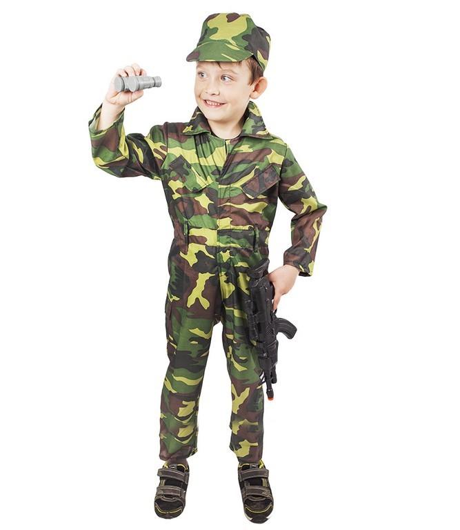 Fotografie karnevalový kostým ARMY - voják, dětský, vel. M