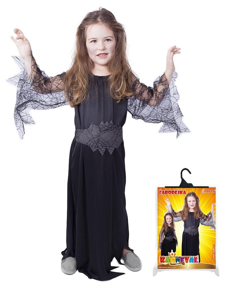 karnevalový kostým čarodějnice černá vel. S