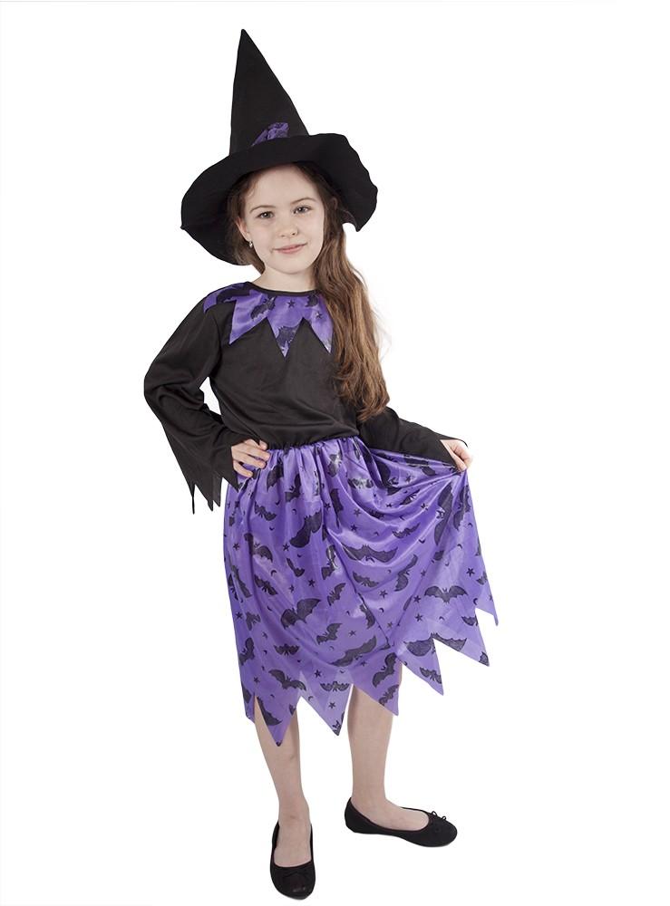 Fotografie karnevalový kostým čarodějnice fialová vel. M