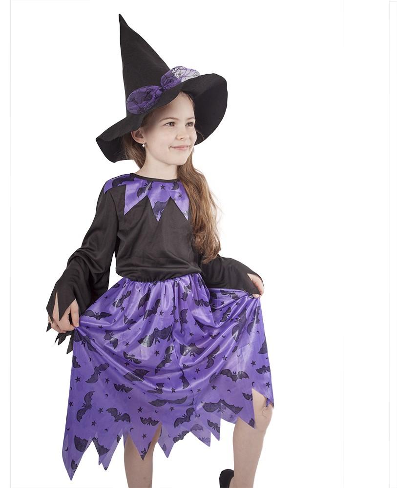 karnevalový kostým čarodějnice fialová vel. S