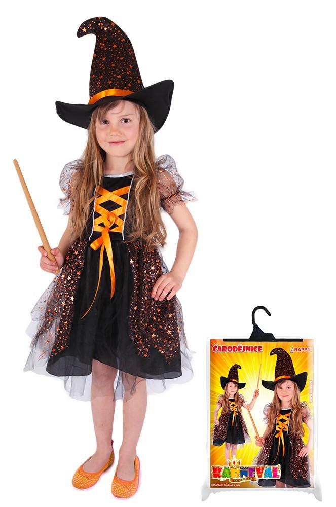 karnevalový kostým čarodějnice/halloween hvězdička, vel. L