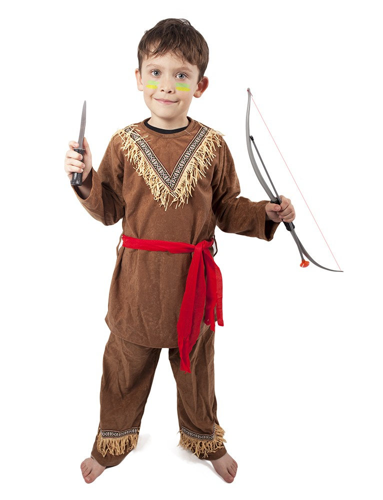 karnevalový kostým indián, dětský, vel. S