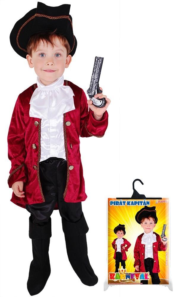karnevalový kostým kapitán Hook, vel. L