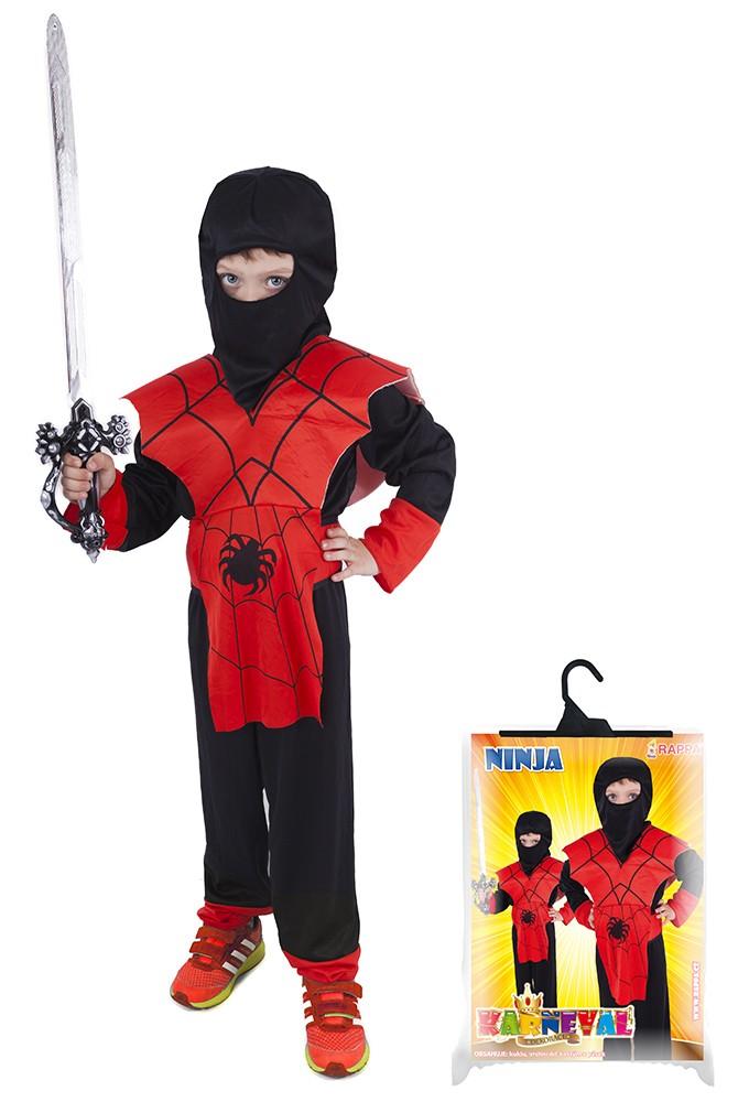 Fotografie karnevalový kostým NINJA pavouk vel. M