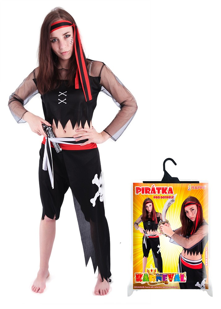 Fotografie karnevalový kostým pirátka pro dospělé, vel. M