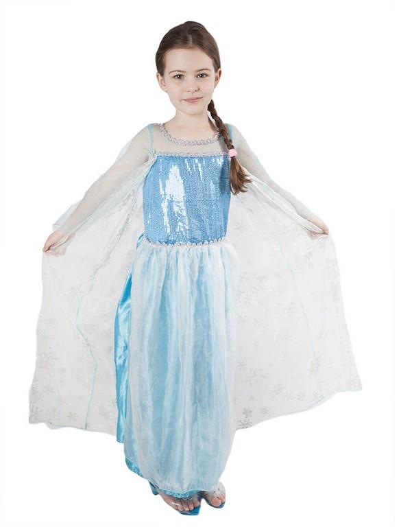 karnevalový kostým princezna Zimní království - Elsa, vel. M