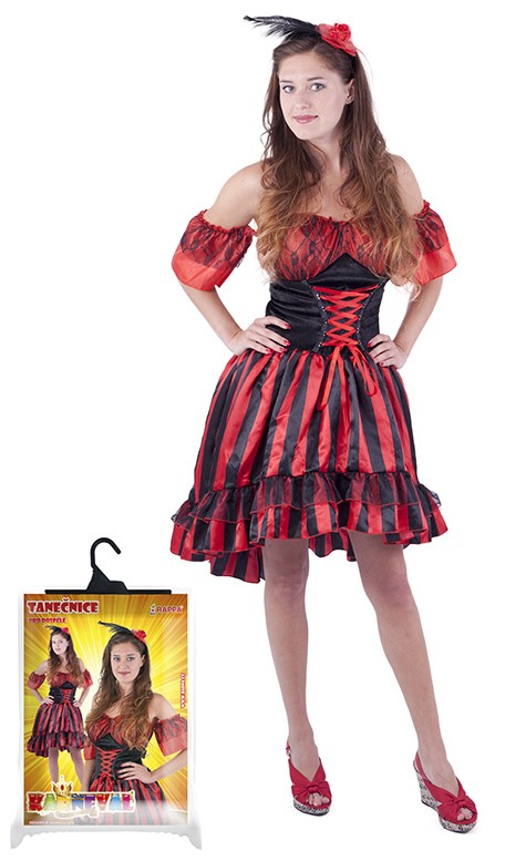 Fotografie karnevalový kostým tanečnice Sally pro dospělé, vel. M