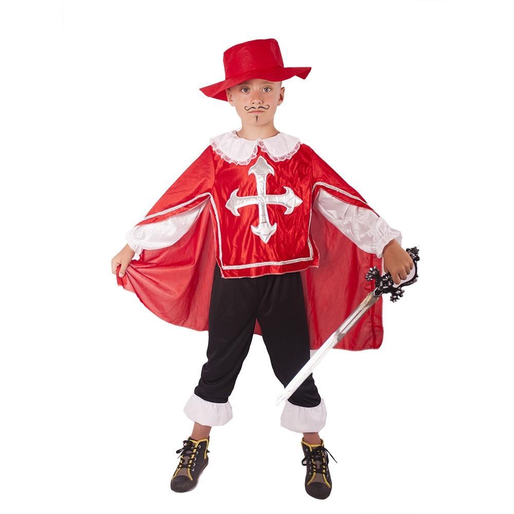 kostým mušketýr červený vel. M