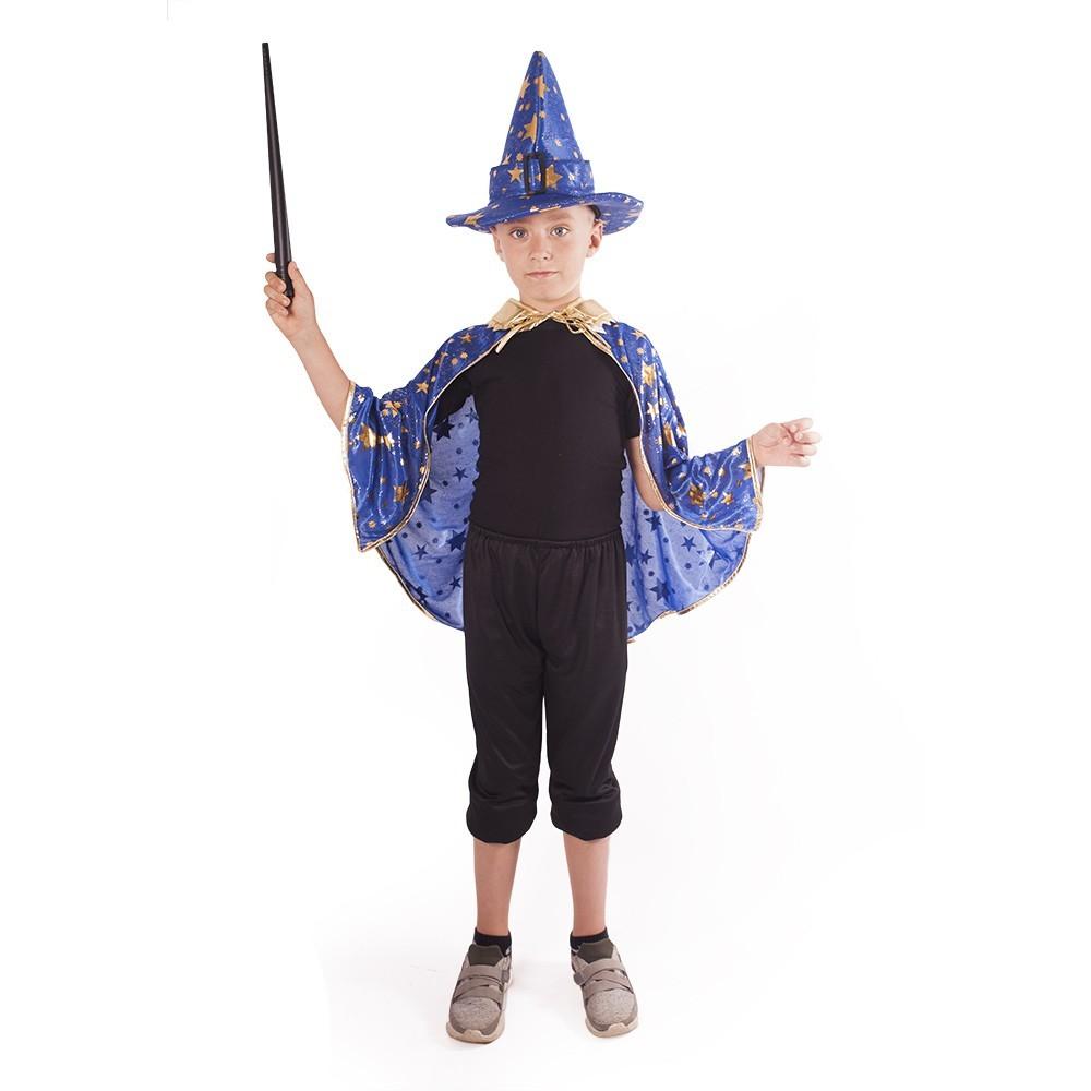 plášť modrý s kloboukem Čaroděj / Čarodějnice / Halloween