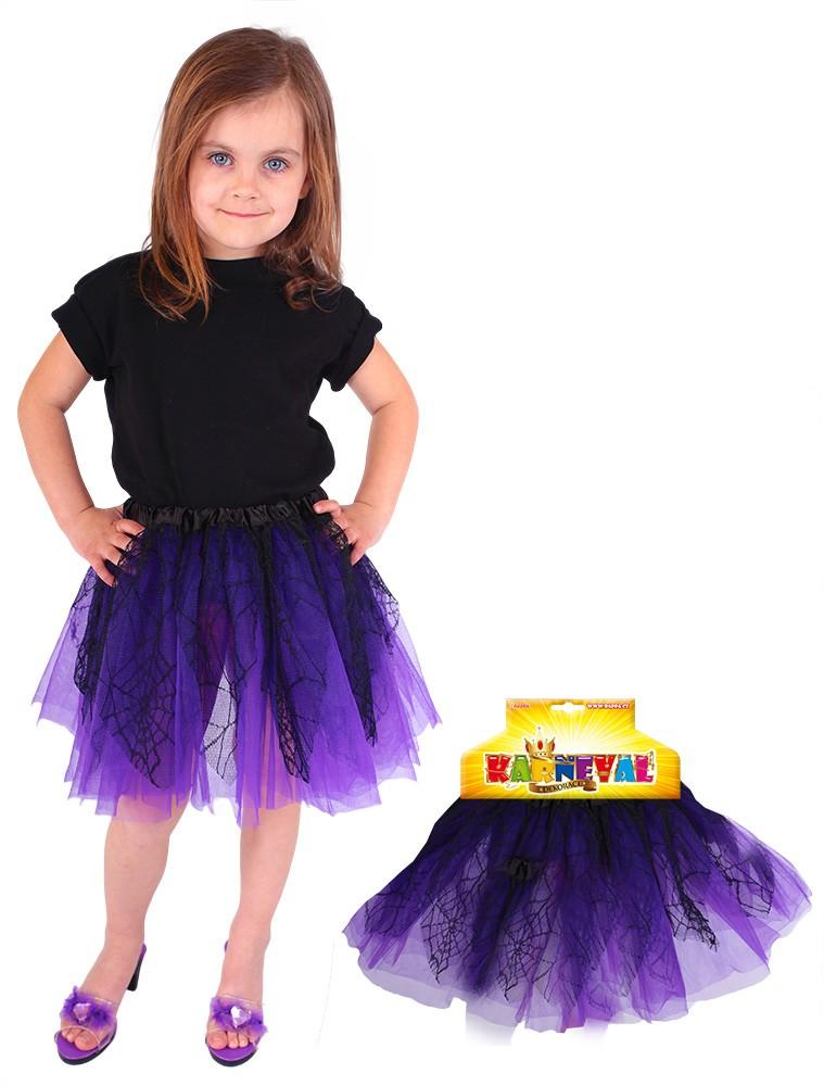 Sukně TUTU čarodějnice/halloween fialová