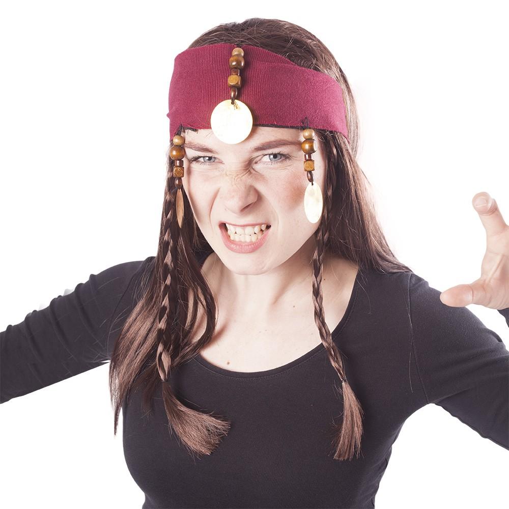 Paruka pirátská s vlasy