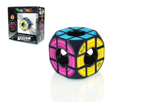 Fotografie Rubikova kostka hlavolam Void plast 6x6x6cm volný střed v krabici