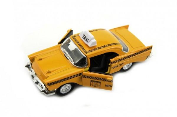 Auto taxi kov 12cm na baterie se světlem a zvukem 12ks v boxu