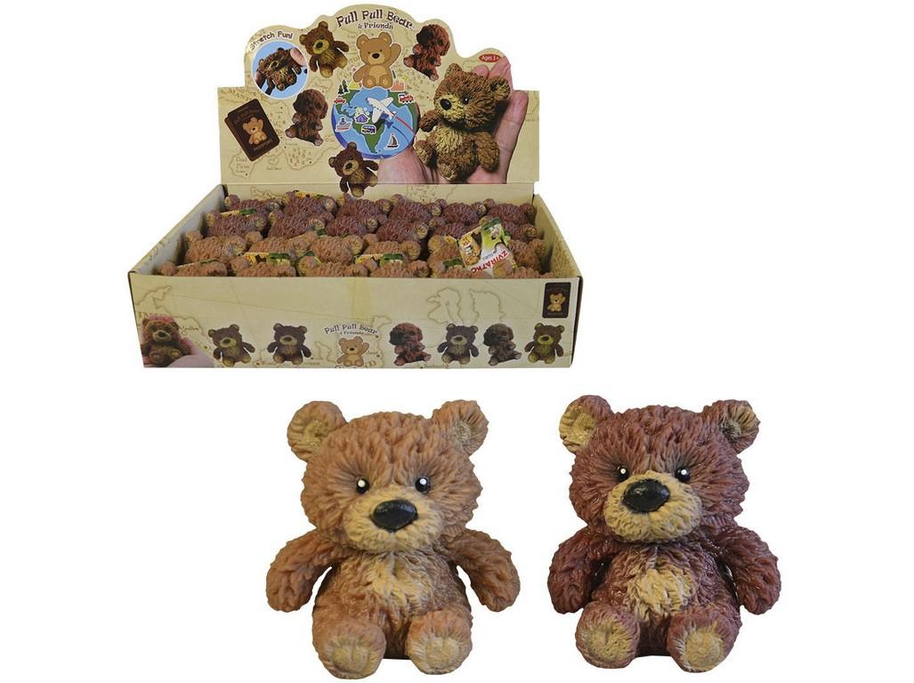 Medvěd softový, 8 cm, 24 ks v boxu
