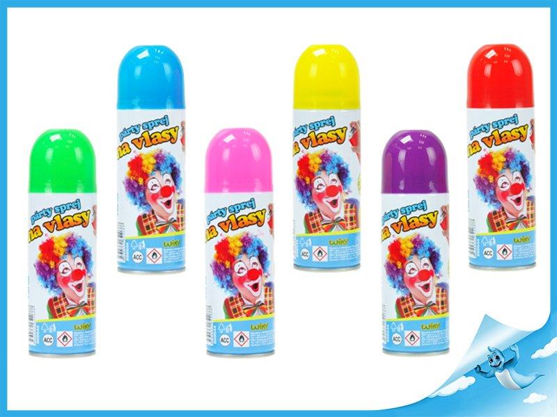 Fotografie Párty sprej barva na vlasy smývatelná dětská 140ml 6 barev