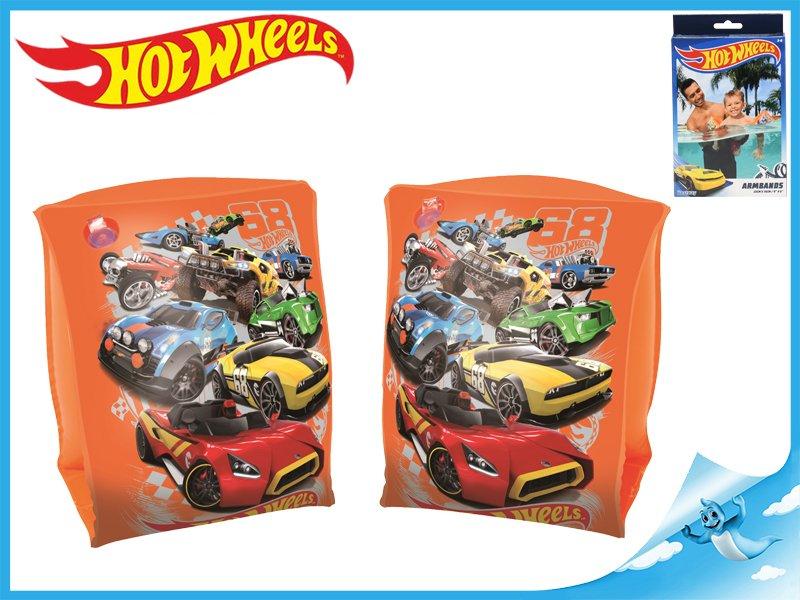 Rukávky nafukovací Hot Wheels 23x15cm 2komory 3-6let v krabičce
