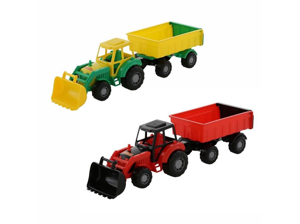 Traktor Mistr, nakladač s přívěsem