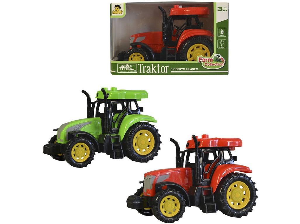 Traktor s CZ IC, světlo zvuk, na setrvačník, 15cm
