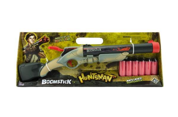 Pistole/Puška brokovnice s pěnovými náboji plast 49cm v krabici 51x19x7cm