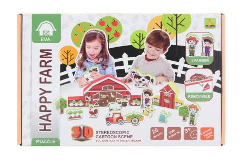 3D pěnové puzzle farma